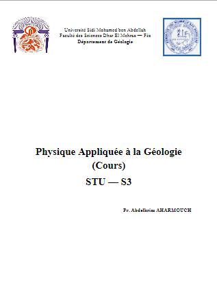 Physique Appliquée à la Géologie (Cours) STU — S3