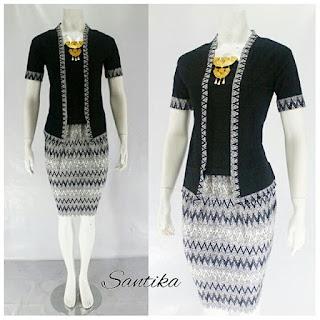 Model Kebaya Batik Santika Modern