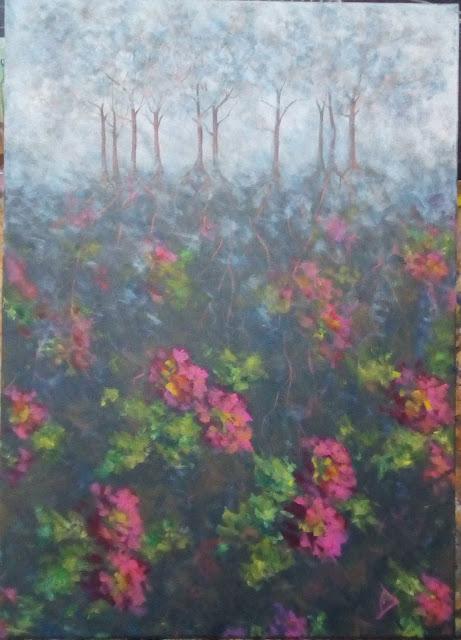 Dana Dragomir - Radacini - pictura acrilic pe panza 50x70cm