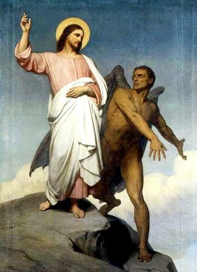 Jésus tenté par Satan au désert