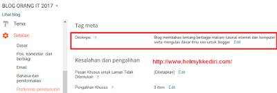 Perbedaan 2 Pengaturan Deskripsi Diblogger2