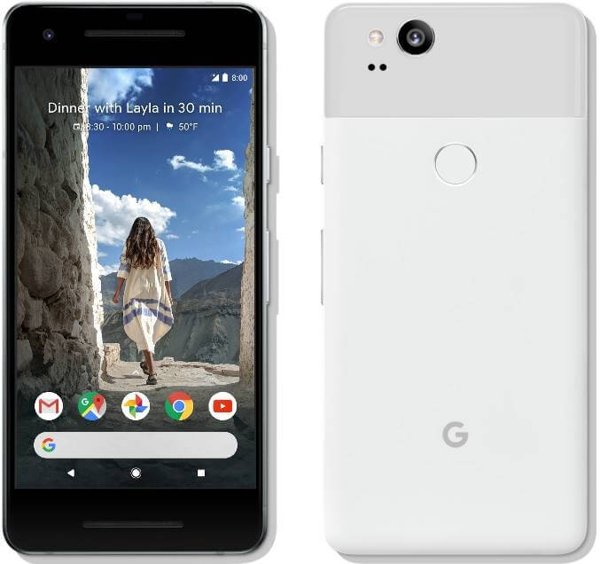 Google Pixel 2 Now Official; 5-inch AMOLED Display, Snapdragon 835, 12MP Dual Pixel PDF w/ OIS