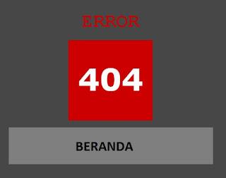 Pengalaman Pengunjung Dengan Membuat Halaman Error 404 Blog Menuju Beranda