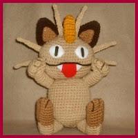 Meowth amigurumi
