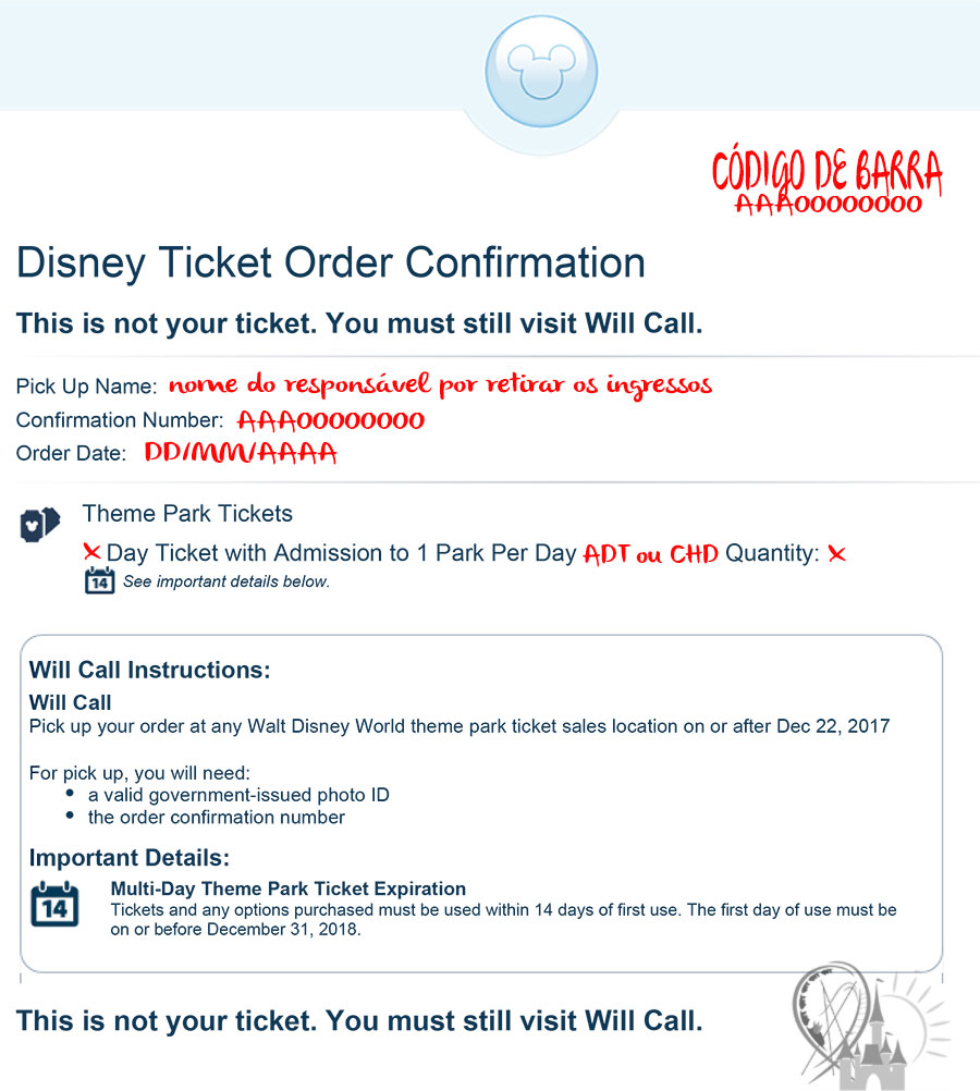 voucher Walt Disney World Resort