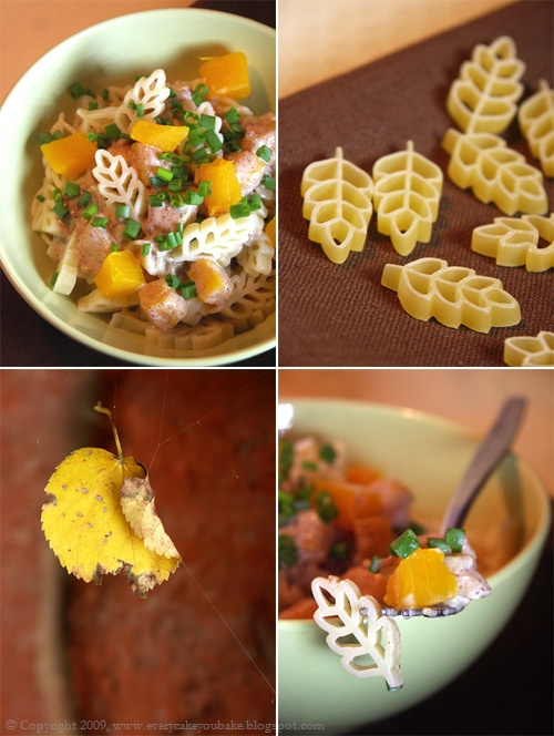 jesienny makaron w sosie cynamonowo-dyniowym