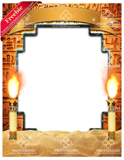 marco de egipto para fotos de halloween