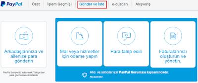 PayPal'dan Başka PayPal Hesabına Ücretsiz Para Göndermek