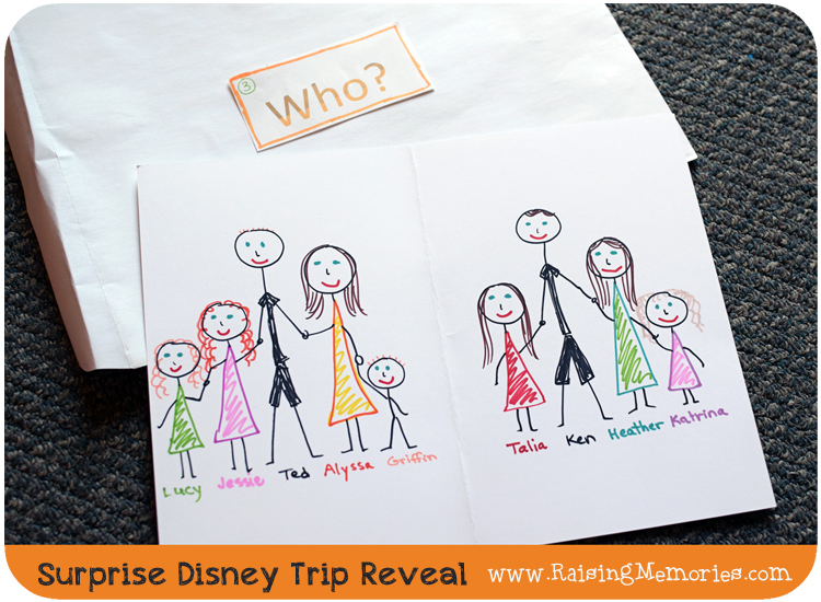 Disney Trip Surprise Gift Reveal Idea
