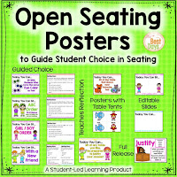 A square cover for the Open Seating Product on TpT offered in this blog post.  It shows the posters and tents available for this product.