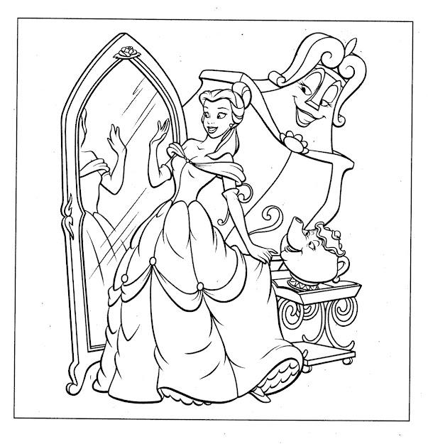 Disney Princess Color Pages