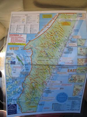 Carte itinéraire Fraser Island
