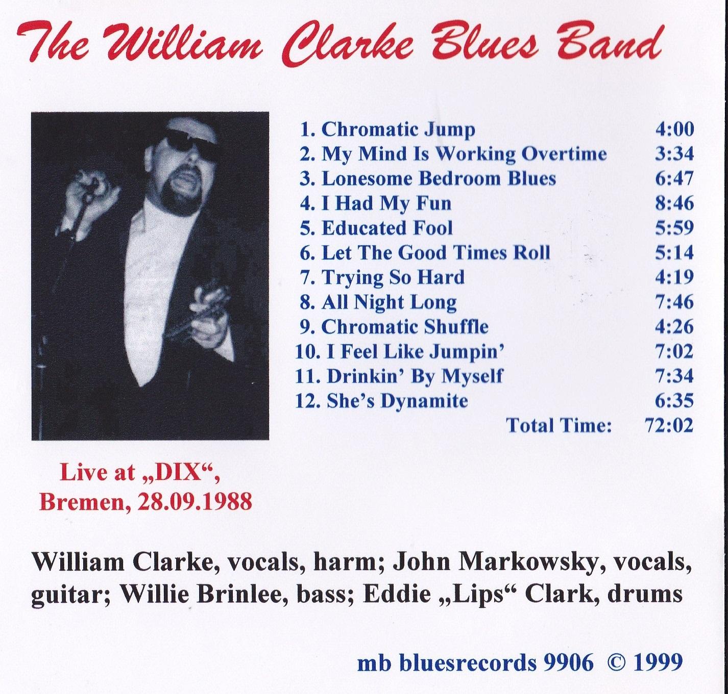 Soundaboard: William Clarke Blowin' my Harp 1998