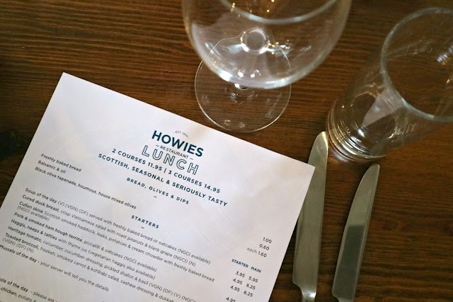 Lunch at Howies, Edinburgh Old Town