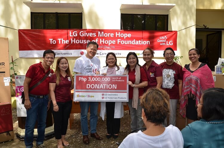 LG Donates Over Php3 Million worth of LG Products