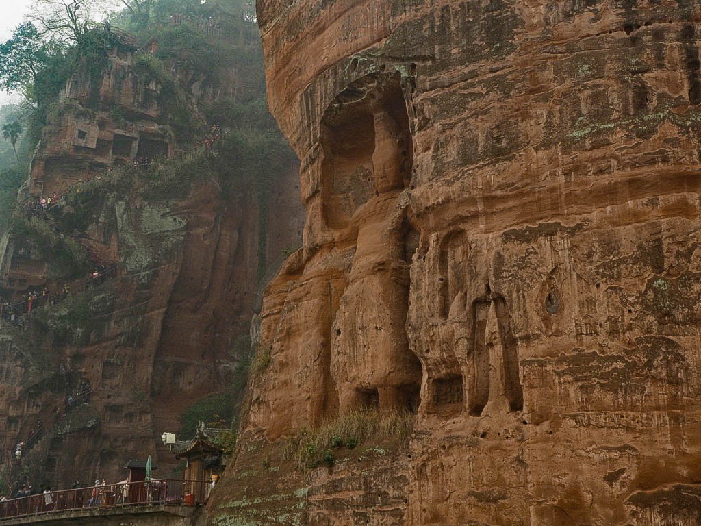 Carvings next to Giant Buddha of Leshan, China