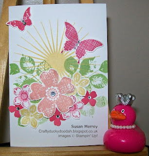 Stampin' Up! Independent Demonstrator Made by Susan Merrey Craftyduckydoodah Kinda Eclectic Petite Petals Flower Shop