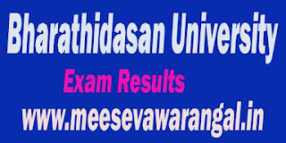 Bharathidasan University PG (CDE-Non Sem All Programes) 2016 Exam Result