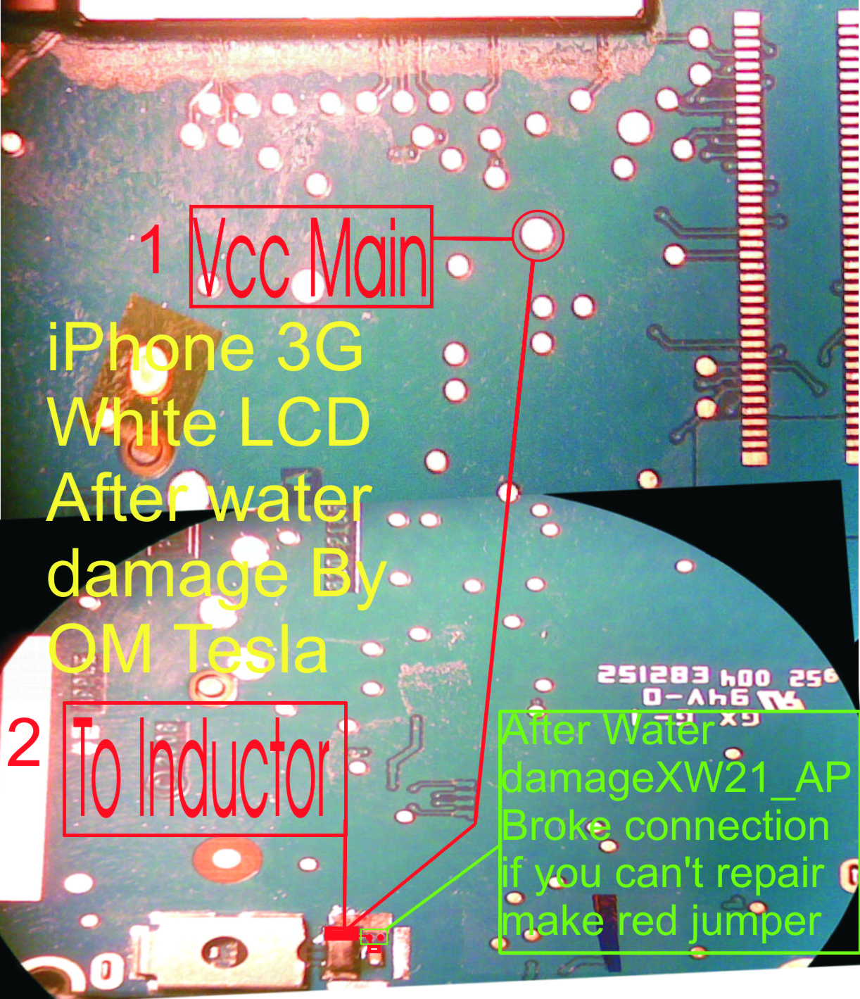 Iphone 3g White LCD solution After water damage