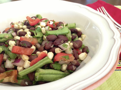 Black & Green Bean Corn Salad
