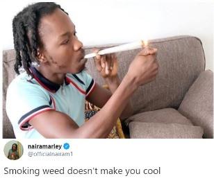 Weed Smoking doesn't make you cool - Naira Marley