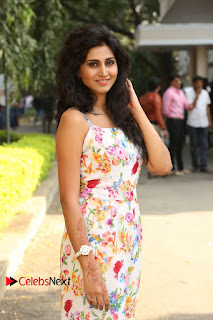 Actress Shamili Stills in Floral Short Dress at Sree Ramaraksha Song Launch 0091