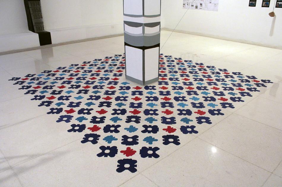 Simulacion de piso colonial en Memoria a escala