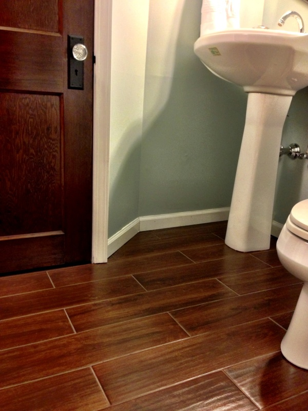 Bathroom Tile Wood Look | Home Decorating Excellence