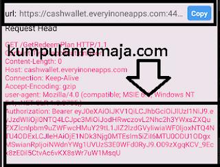Mencari kode verti pada cash wallet