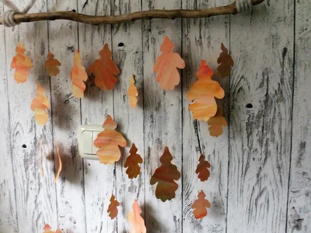 Herbstmobile aus geplotteten Blättern