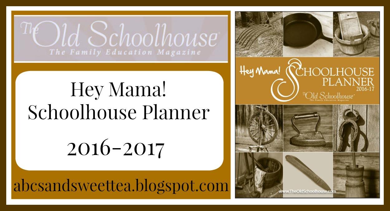 abc s and sweet tea hey mama print schoolhouse planner 2016 2017