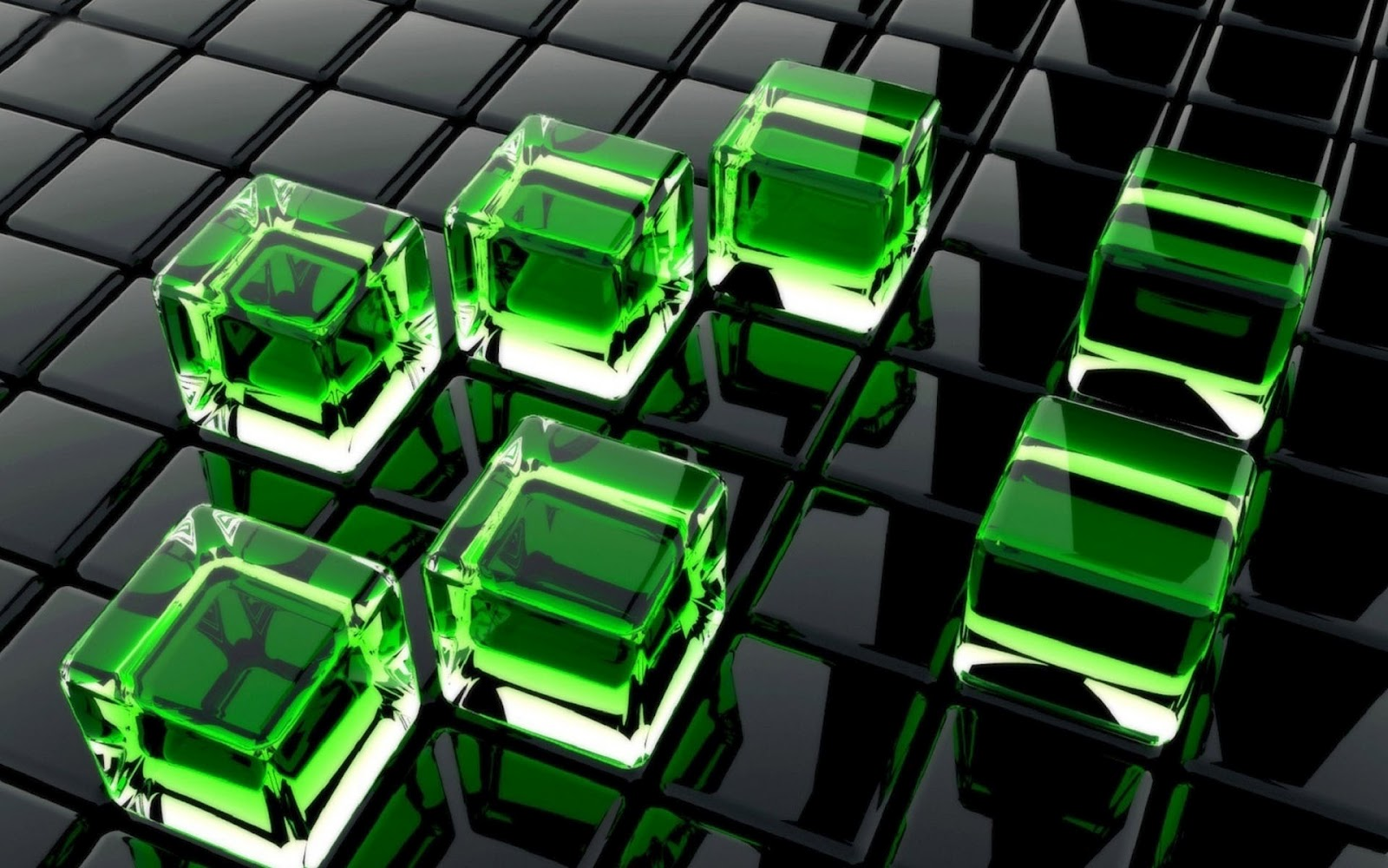 Black Glass Neon Windows
