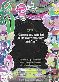 My Little Pony Zapp Series 3 Trading Card