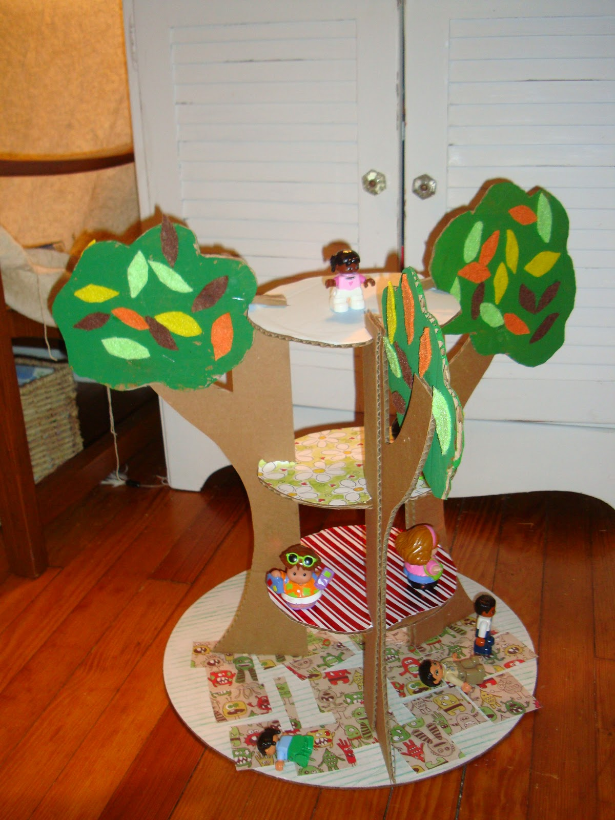Cardboard Treehouse Life Is Either A Daring Adventure Or Nothing