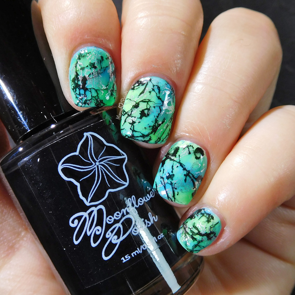 Glow in the Dark Marble Stone Nail Art | Mama Hearts Polish