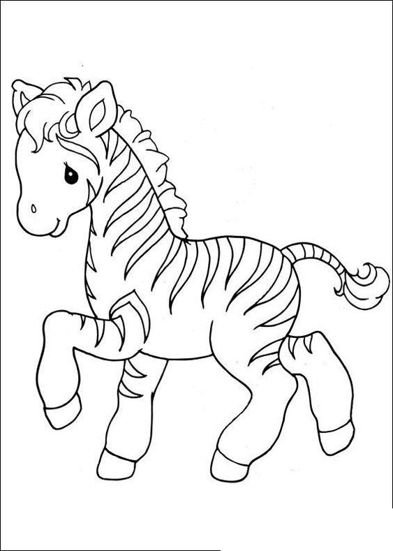 Tranh tô màu con ngựa vằn cho bé 5 tuổi