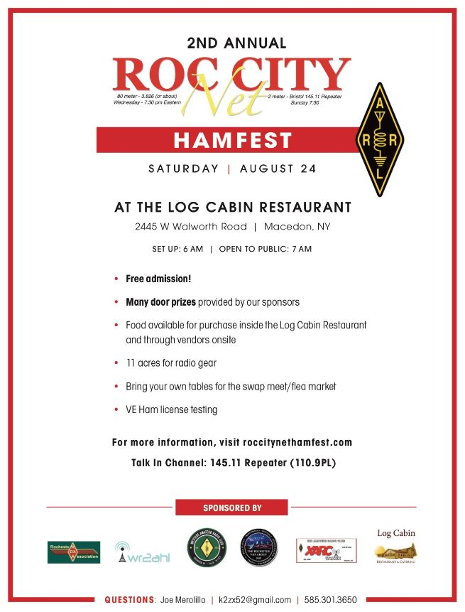 Upstate NY HAM Radio News & Information: ROC City Hamfest 2019 - 8/24/19