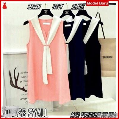 GFSH2779277 Setelan Dress Keren Terbaru Syall BMG