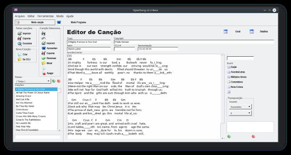 linux dicas e suporte  opensong  app evang u00e9lico para