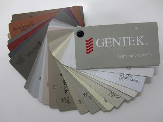 Gentek aluminum colour selection