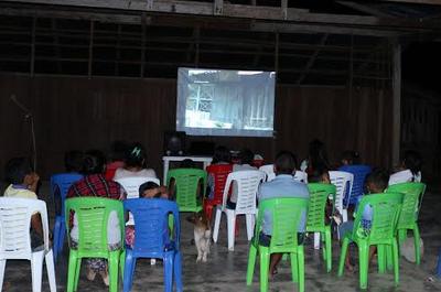 cine en el campo