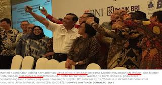 """Ketika Para Menteri """"Selfie"""" Rayakan Pinjaman untuk LRT Jabodebek"""