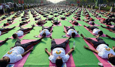 International Yoga Day, yoga rehearsal, international yoga day rehearsal, Yoga practice, yoga at Rajpath