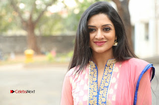 Actress Vimala Raman Stills in Beautiful Pink Salwar Kameez at (ONV) Om Namo Venkatesaya Press Meet  0277.JPG