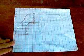 Cuadrícula para dibujar pistola