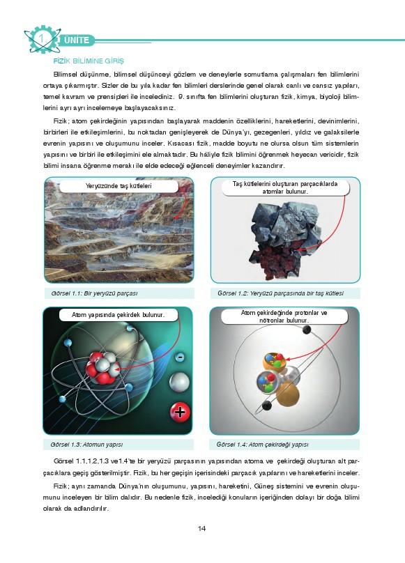 9. Sınıf Fizik Ders Kitabı Cevapları Tutku Yayınları Sayfa 14