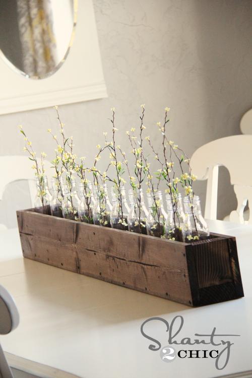Diy διακοσμητική γλαστρα για το τραπέζι σας