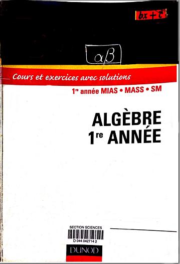 Livre Algèbre S2