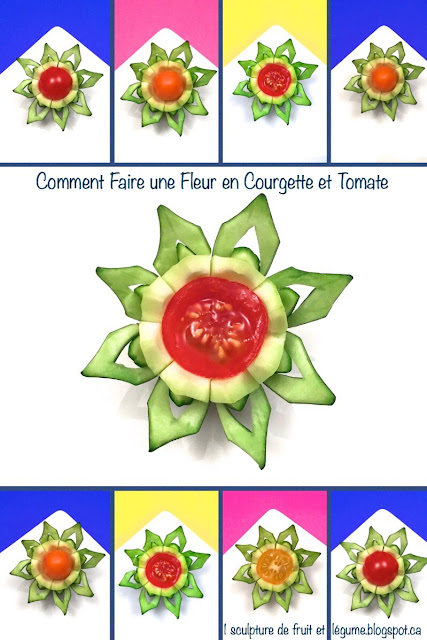 1 sculpture de fruit et l gume comment faire une fleur en courgette et tomate cerise how to. Black Bedroom Furniture Sets. Home Design Ideas