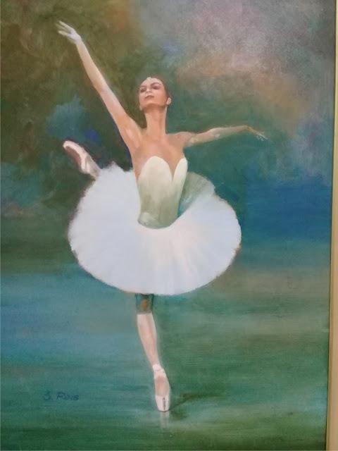 Bailarina+La+Bayedere+pintura+acrílico